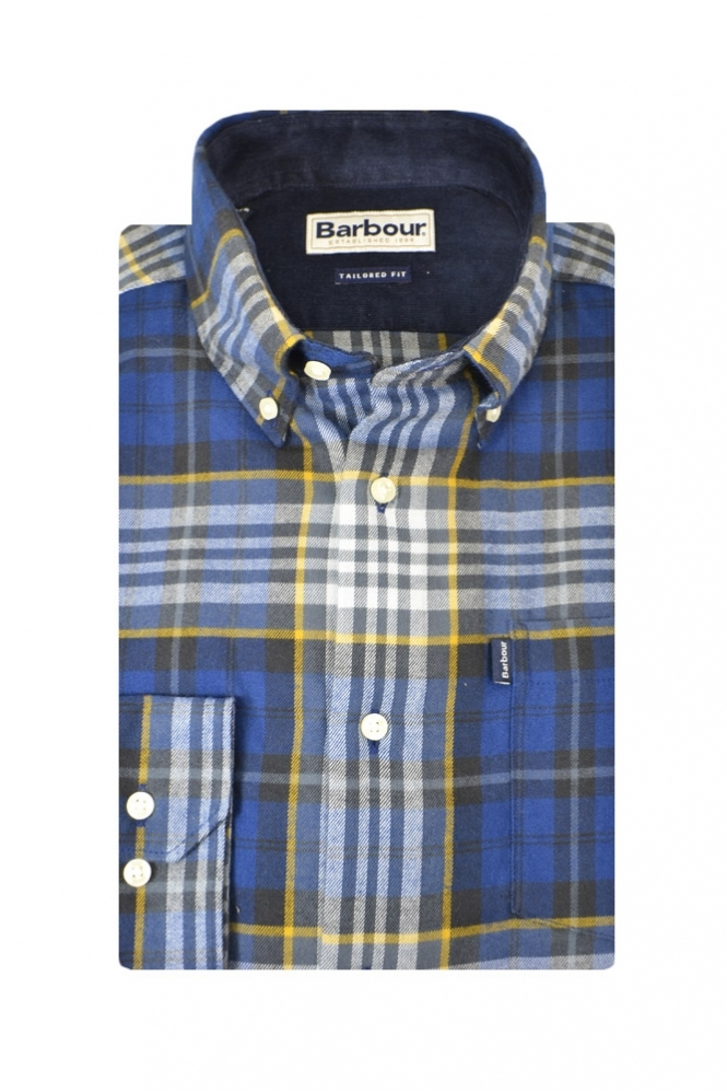 Barbour Alvin Tailored Fit Long Sleeve Shirt Navy Multi Check