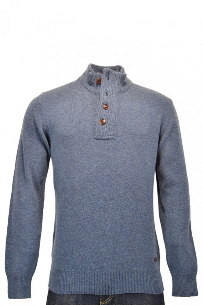 233e60728d988a Barbour Patch Half Zip Jumper Dark Denim - Clothing from Michael ...