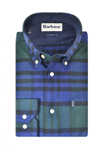 Barbour Castlebay Tailored Long Sleeve Shirt Blue/Green Multi Check