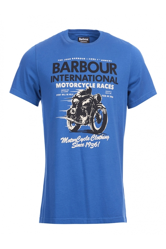 Barbour International Tailored Fit Dyno T-shirt Blue