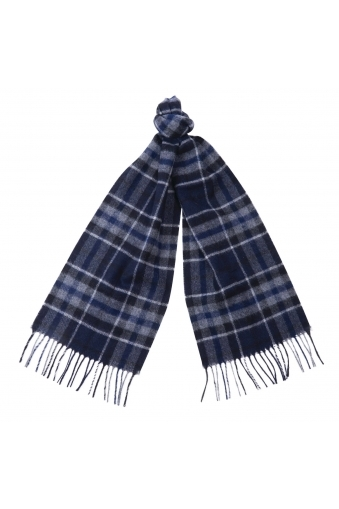 Barbour International Traction Scarf Navy/Grey Check