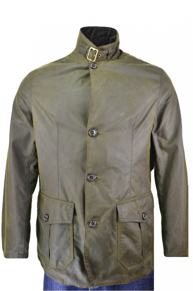 Barbour Lutz Wax Jacket Olive