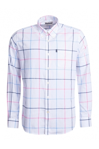 Barbour Max Tailored Fit Long Sleeved Shirt White Multi Check