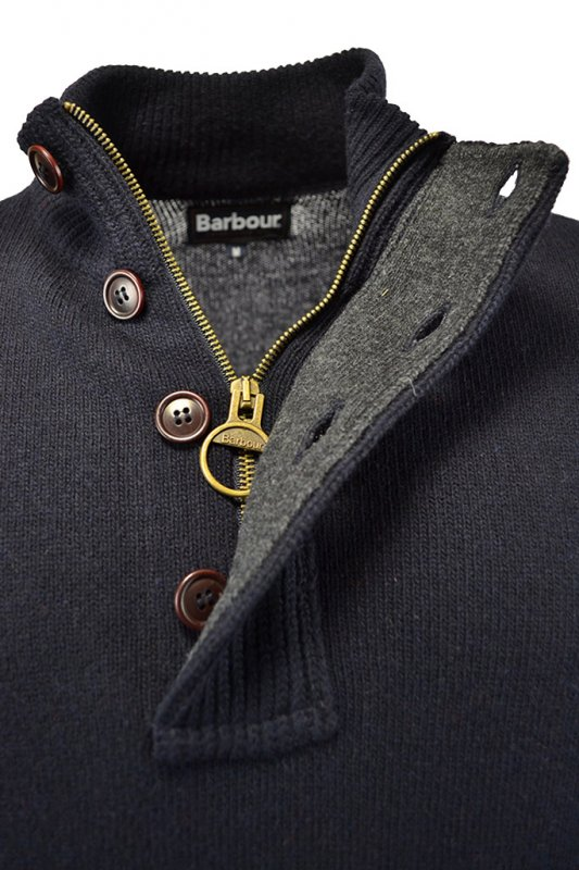 c4a385880ee62c Barbour Patch Half Zip Jumper Navy - Clothing from Michael Stewart ...