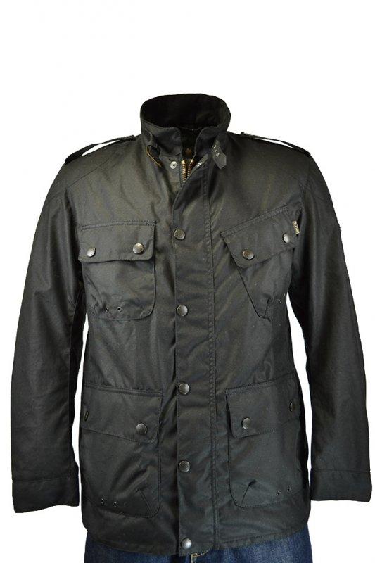 Barbour Saxony Waxed Jacket Black