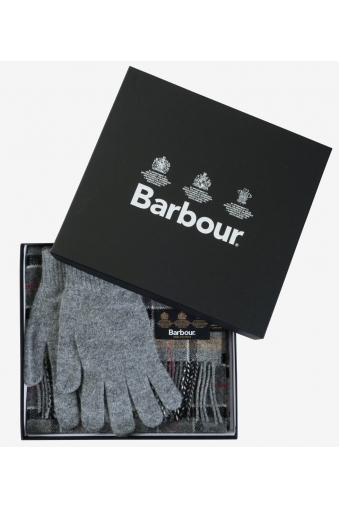 Barbour Scarf And Glove Set