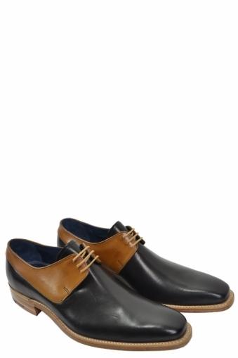Barker Kurt Lace Up Shoe Black/tan