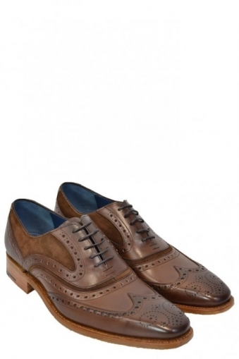 Barker Mcclean Brown Calf/Snuff Suede Shoes
