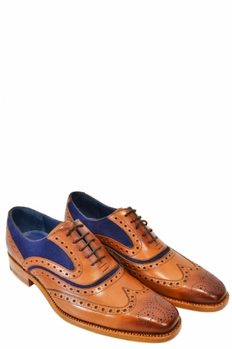 Barker Mcclean Calf/Navy Suede Shoes