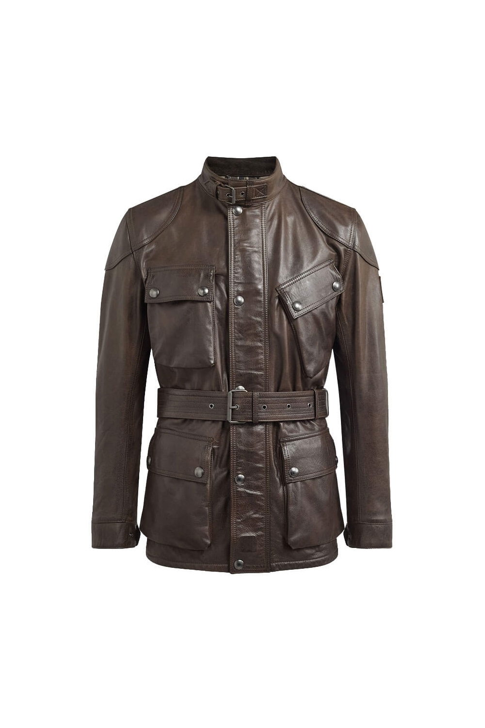 top fashion retail prices first rate Panther Leather Jacket Black Brown