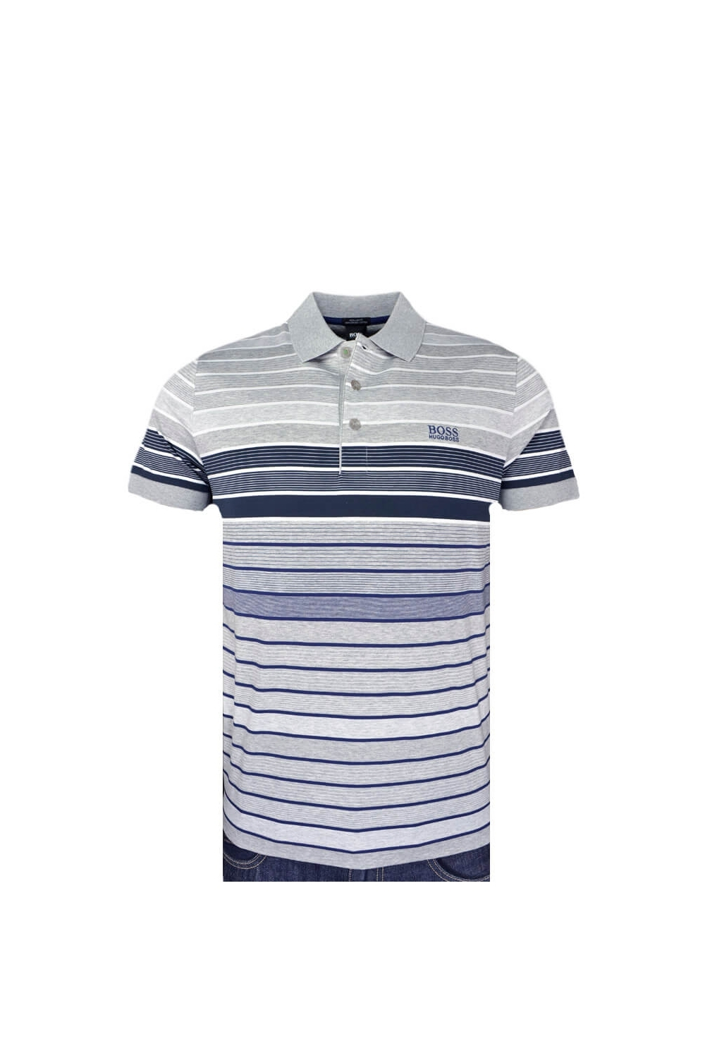 b35316324 BOSS Athleisure BOSS Paddy 3 Polo Shirt Grey Multi Stripe - Clothing ...