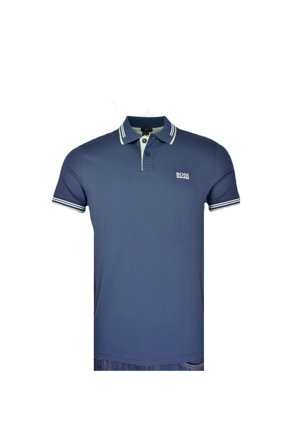 7bdf671fcbe5 BOSS Athleisure BOSS Paul Slim Fit Polo Shirt Navy - Clothing from ...