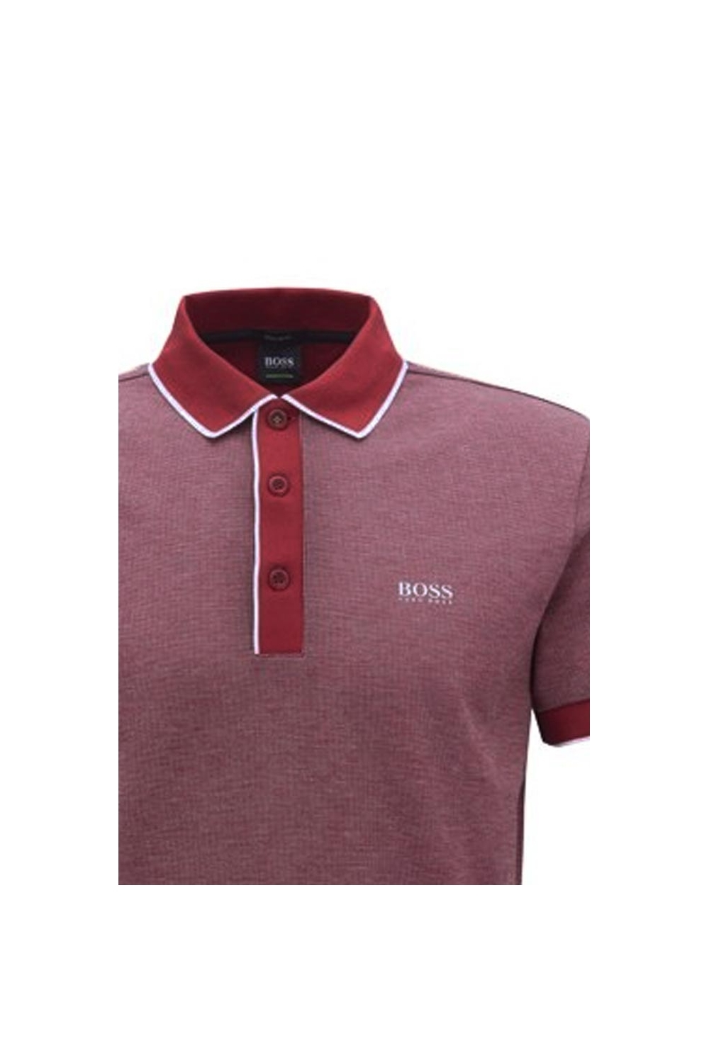 89a450453eb Hugo Boss Green Paddy Polo 5 in Dark Red 50392665