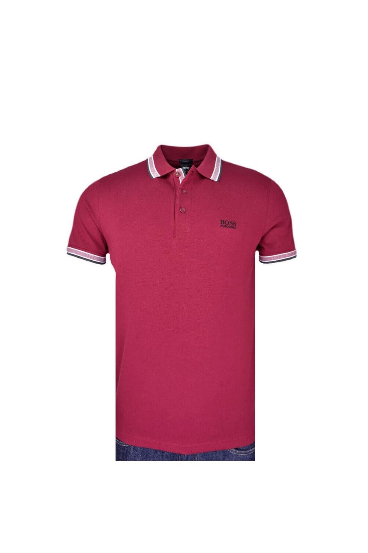 e58b068c8 BOSS Athleisure BOSS Regular Fit Paddy Polo Shirt Dark Red Marle ...