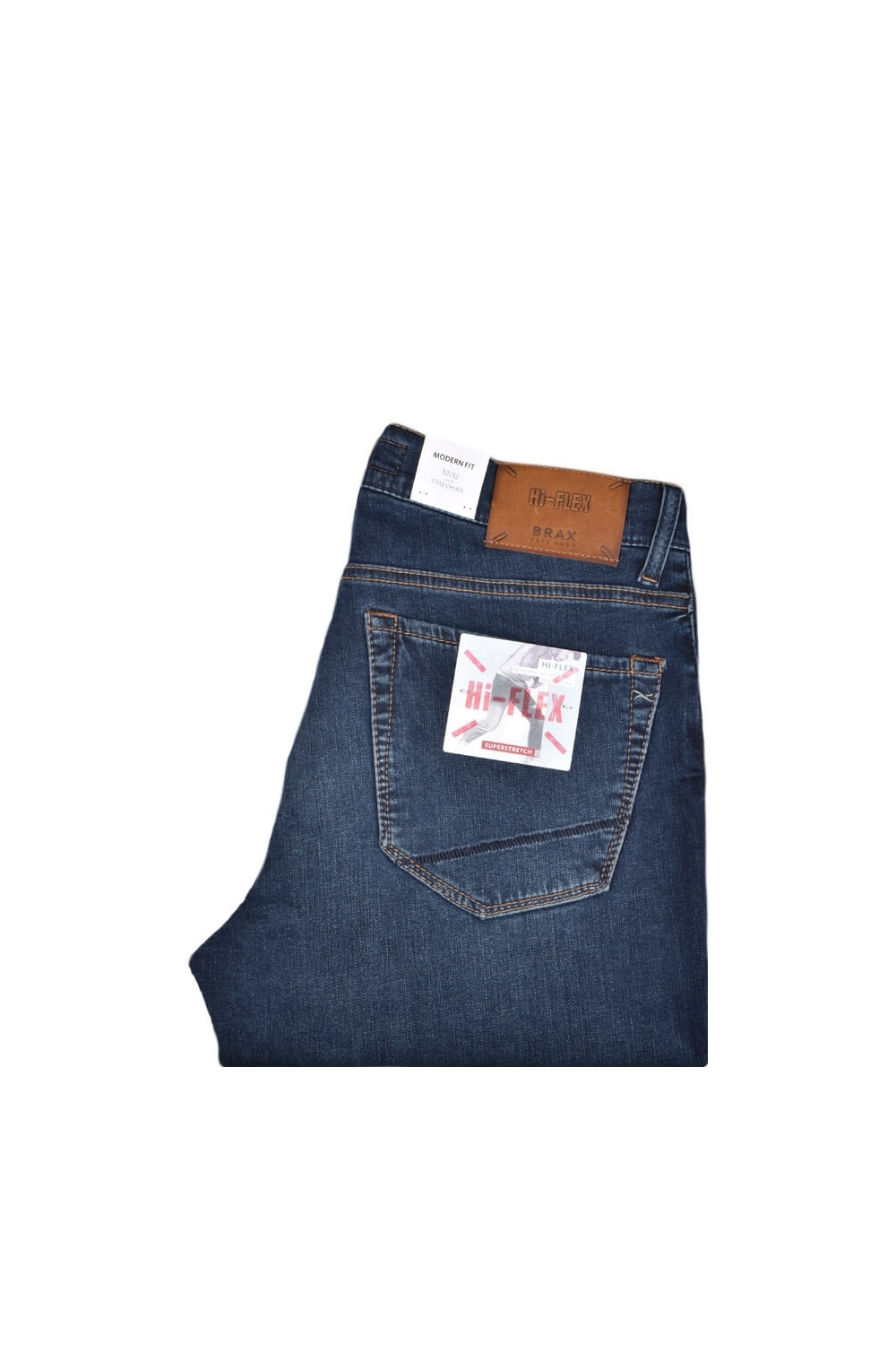 finest selection stable quality incredible prices Brax Chuck Hi-flex Slim Fit Jeans Mid Blue Denim Size: 34W32L