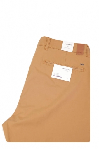 Brax Everest Regular Fit Chinos Tan