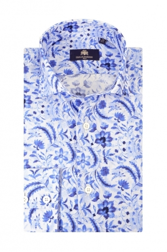 Circle Of Gentlemen Kearney Long Sleeve Shirt Blue Floral