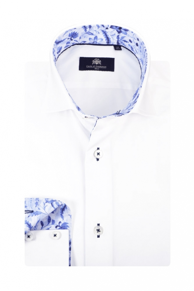 Circle Of Gentlemen Kelbrook Long Sleeve Shirt White