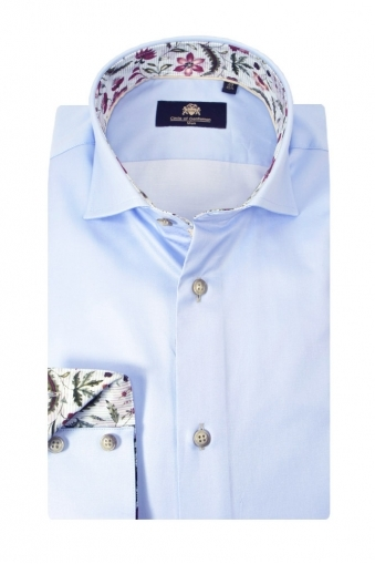 Circle Of Gentlemen Kellow Long Sleeve Shirt Light Blue