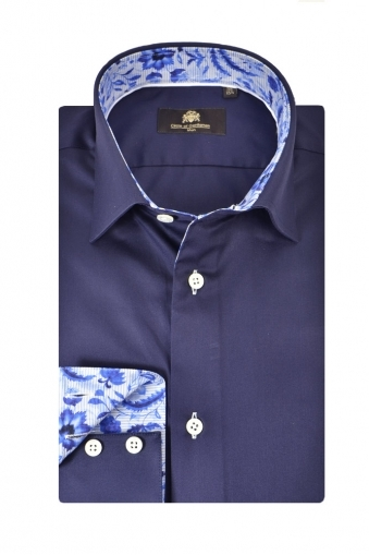 Circle Of Gentlemen Kemrock Long Sleeve Shirt Navy