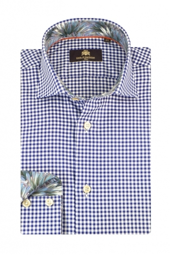 Circle Of Gentlemen Milow Long Sleeve Shirt Navy Check