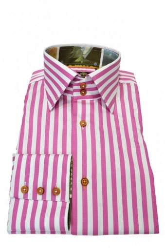 Risley Shirt Pink Stripe