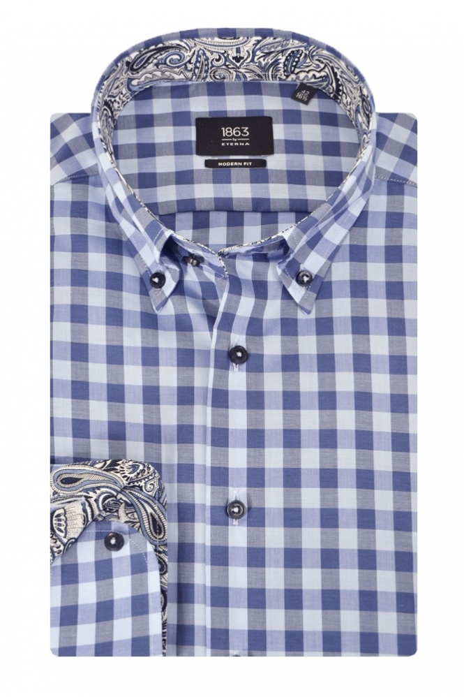 Eterna Casual Eterna Check Shirt