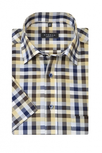 Eterna Short Sleeve Button Down Shirt
