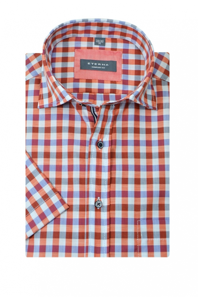 Eterna Casual Eterna Short Sleeve Button Down Shirt
