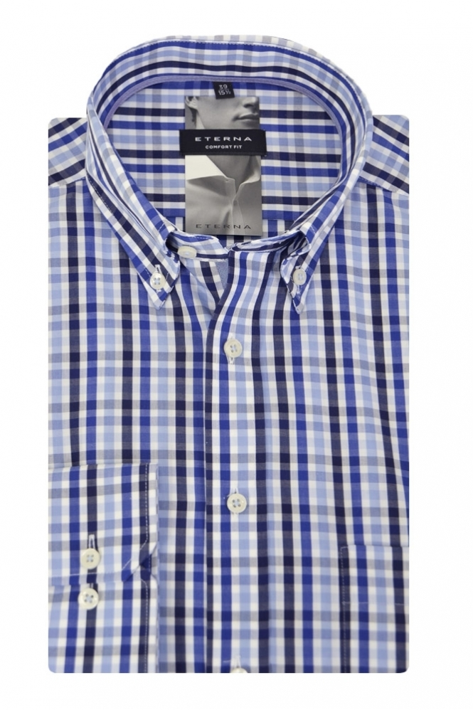Eterna Casual Eterna Checked Shirt