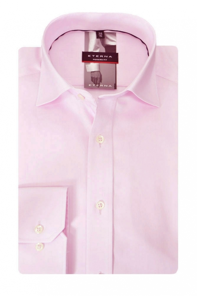 Eterna Formal Eterna Red Line Cut Away Collar Formal Shirt