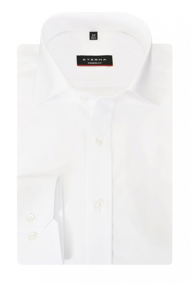 Eterna Formal Eterna Red Line Modern Fit Cut Away Collar Shirt
