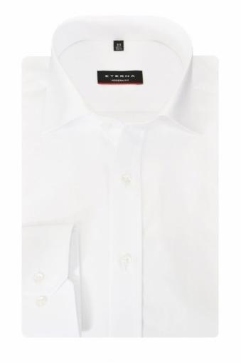 Eterna Red Line Modern Fit Shirt White