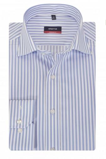 Eterna Striped Shirt Blue Stripe