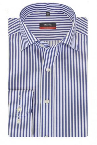 Eterna Striped Shirt Navy Stripe