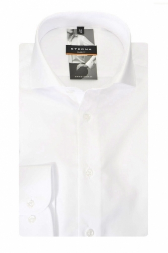 Eterna Formal Slim Fit Cut Away Collar Shirt