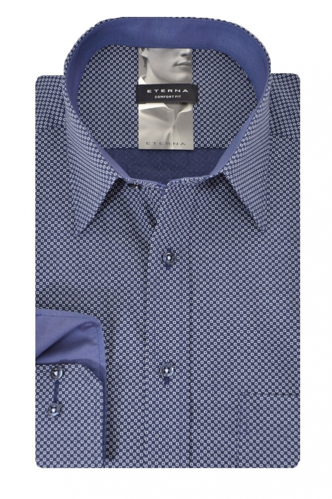 Eterna Casual Eterna Patterned Shirt