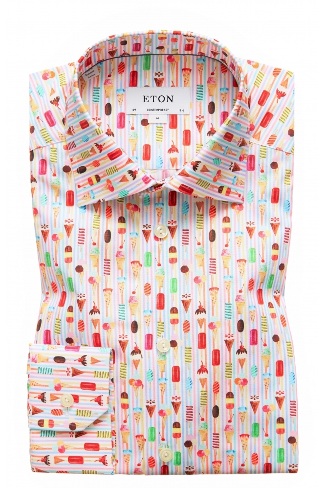 Eton Contemporary Fit Patterned Shirt