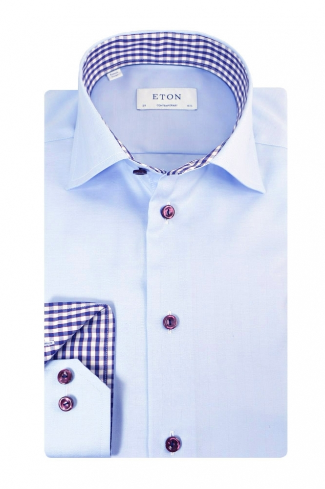 Eton Contemporary Fit Shirt Light Blue