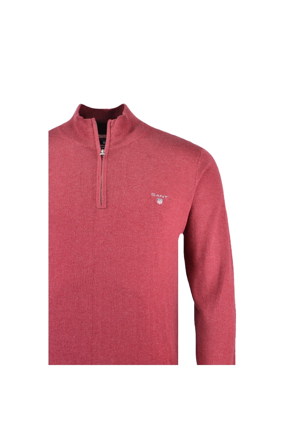 top-rated professional new high quality 2019 factory price Cotton Wool Half Zip Jumper Red Melange