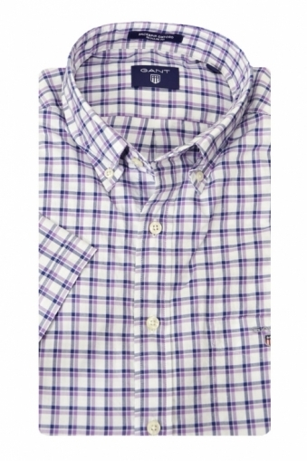 Gant Gc Backspin Oxford Check Short Sleeve Shirt