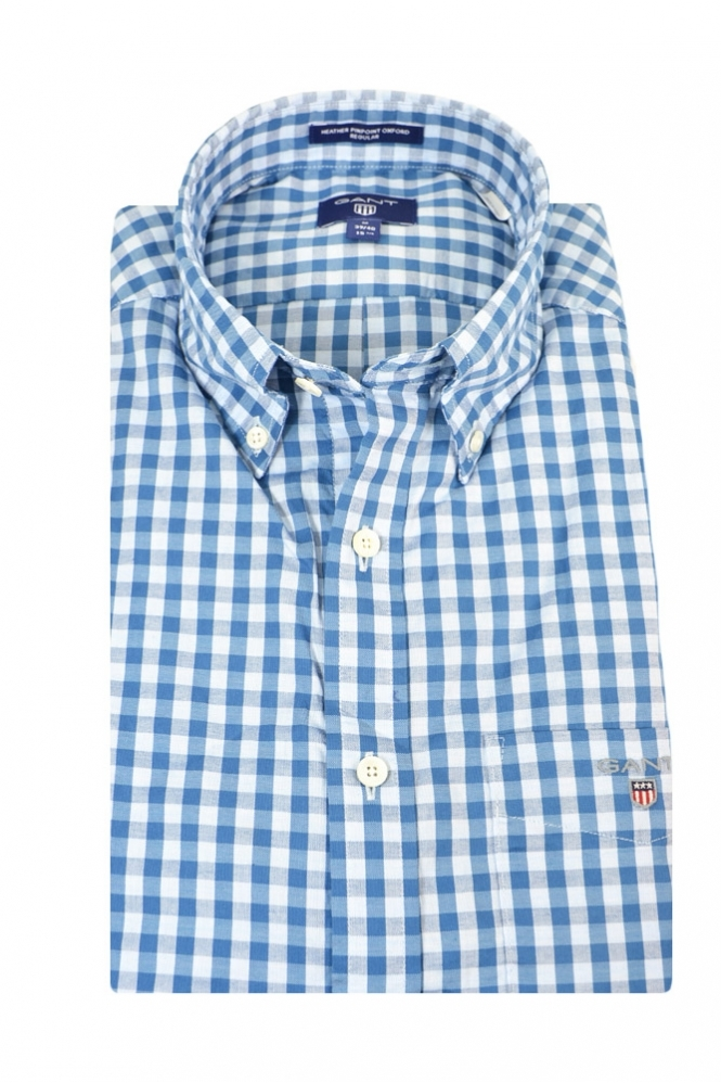Gant Heather Oxford Gingham Regular Fit Long Sleeve Shirt