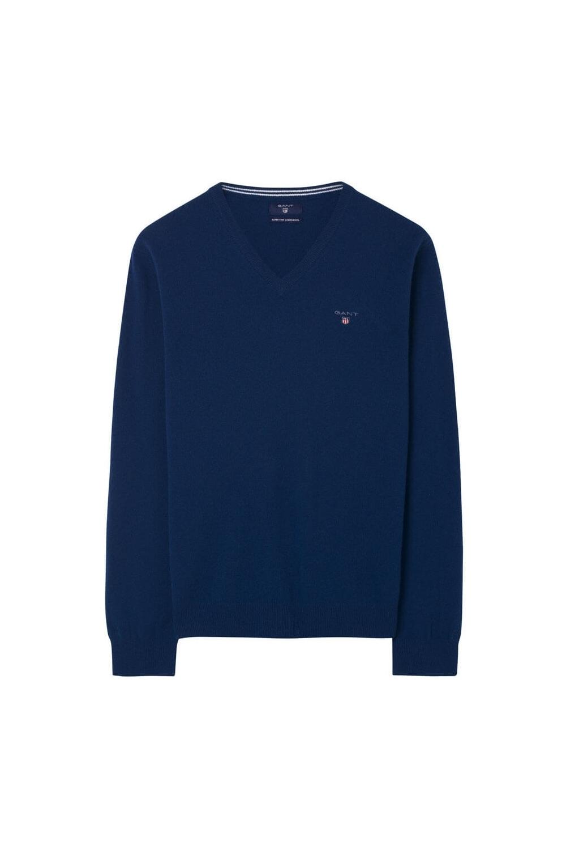 bde164c471a8b8 Gant V-Neck Knitwear in College Blue 86212   Michael Stewart Menswear