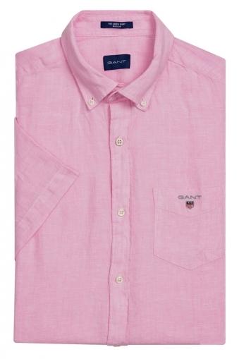 25ba5048f1 Gant Linen Short Sleeve Regular Fit Shirt Bright Pink