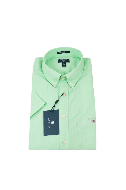 4164f7d68 Gant Gant Oxford Regular Fit Short Sleeved Shirt Mint