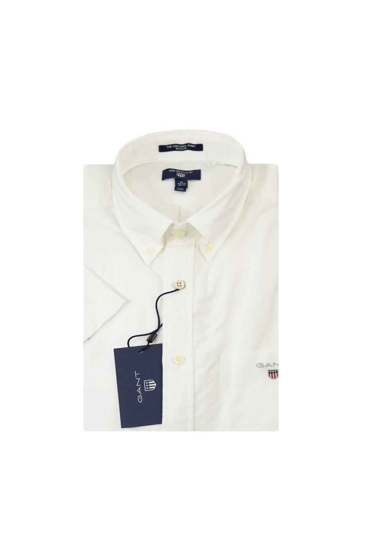 cf52ddd55 Gant Gant Oxford Regular Fit Short Sleeved Shirt White