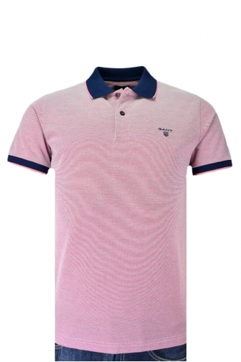 Gant Oxford Rugger Polo Shirt Rose/Red