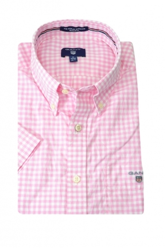 Gant Poplin Gingham Short Sleeve Shirt