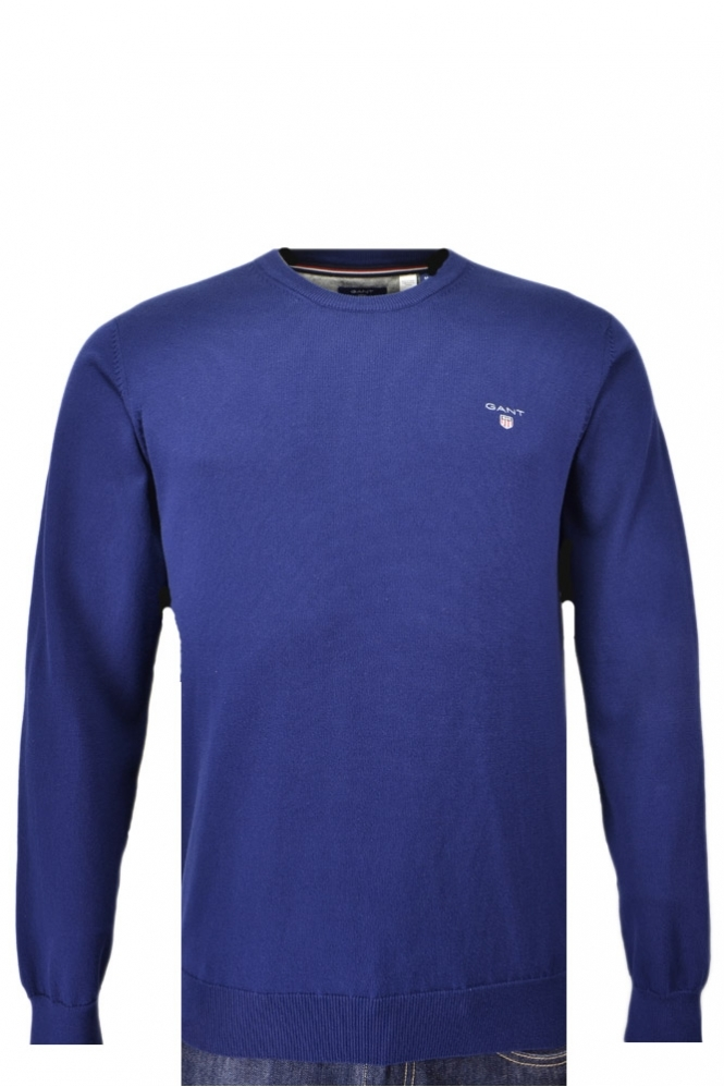 Gant Stretch Cotton Crew Neck Jumper
