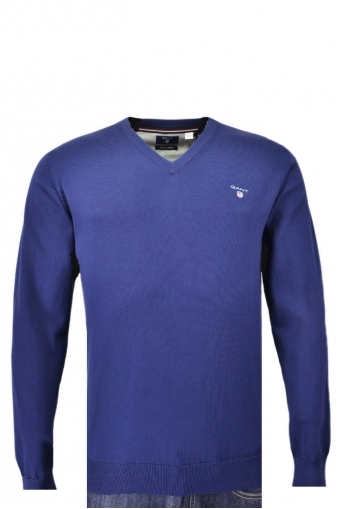 Gant Stretch Cotton V-neck Jumper